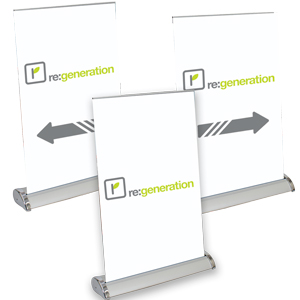Large Mini Promo Retractor Kit - Even the smallest messages can be professionally displayed.