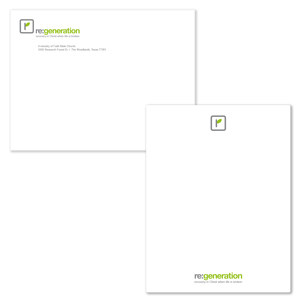 Note Cards with Envelopes - Pack of 100 Cards with 100 Envelopes - Flat announcement card with envelope.